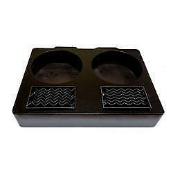Black Bamboo Two 2 Pot Station Airpot Rack Coffee Dispenser Stand Server Display