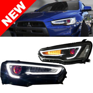 08 17 Mitsubishi Lancer Evo 10 Demon Eye Bi Projector Xenon Headlights
