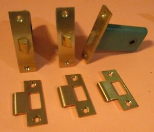 Lot Of 3 Corbin Mortise Knob Latches Brass Door Vintage