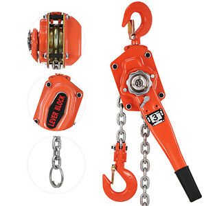 3ton 10ft Ratcheting Lever Block Chain Hoist Come Along Puller Pulley Pop