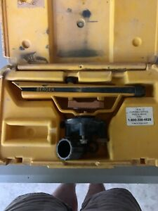 Berger Instruments Transit level Model 135 W carry Case In Good Condition