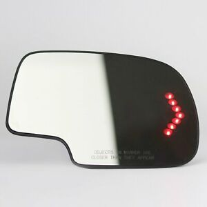 Mirror Glass Heated Turn Signal Passenger Side For 2003 2007 Chevy Gmc Cadillac