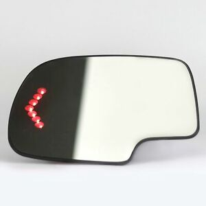 Heated Mirror Glass Turn Signal Driver Side Lh For 2003 2007 Cadillac Chevy Gmc