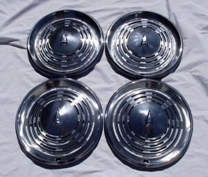 4 Pontiac Lemans 14 Hub Caps 1973 1974 Vintage Muscle Car Hubcaps Oem Set Lot
