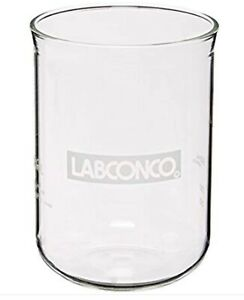 New Labconco 7542800 Borosilicate Glass Fast freeze Flask Bottom 600ml Volume