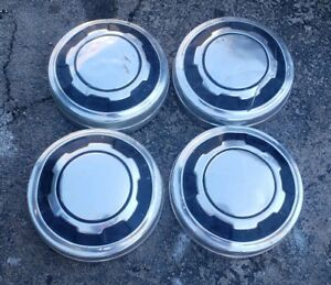 Set Of 4 Oem 1979 1984 Ford 3 4 Ton Pickup Truck Cargo Van 12 Dog Dish Hubcaps