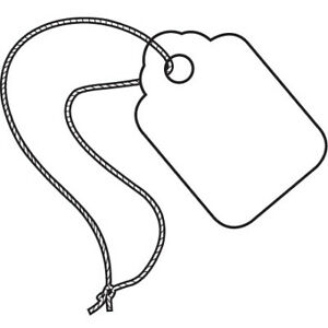 White Pre strung Merchandise Inventory Labels Jewelry Tags Usa Case Of 1000