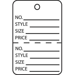 Paper 1 3 4 X 2 7 8 Perforated Garment Inventory Labels Tags Usa Case Of 1000