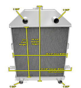 3 Row Western Champion Radiator For 1941 Ford Truck Flathead Configuration