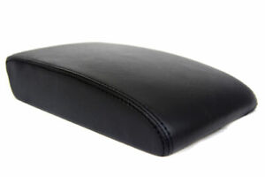 Center Console Armrest Real Leather Cover For Vw Tiguan 09 17 Black