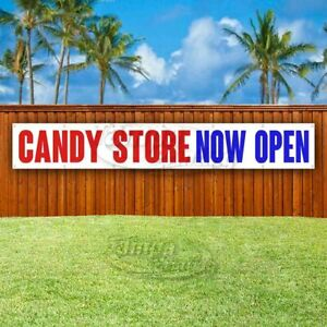 Candy Store Now Open Advertising Vinyl Banner Flag Sign Large Huge Xxl Size