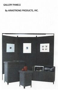 3x7 Armstrong Art Trade Show Display Portable Walls 6 Panels