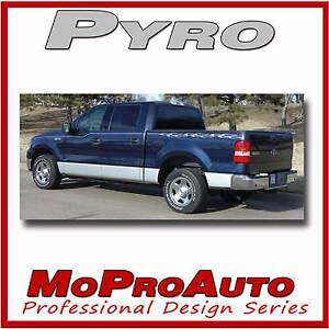 Pyro Vinyl Graphic Decals Ford F 150 Flame Pin Stripes 184
