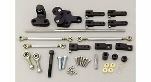 Weiand Throttle Linkage Kit Tunnel Ram Dual Quad Side Mount Ford 429 Wedge 460