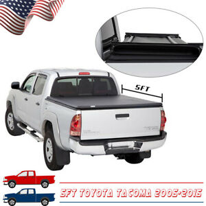 For 2005 2015 Toyota Tacoma 5ft 60in Truck Bed Soft Tri Fold Tonneau Cover