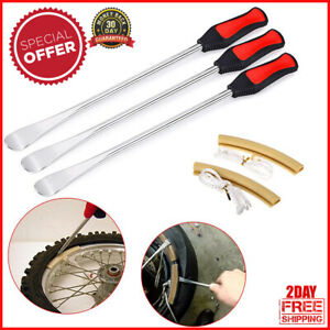 Long 14 5 Tire Lever Tool Spoon Motorcycle Change Kit Dirt Bike Touring Three