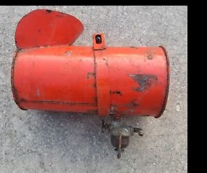 Vintage Allis Chalmers Tractor Orange Gas Tank With Tillotson Sediment Bowl