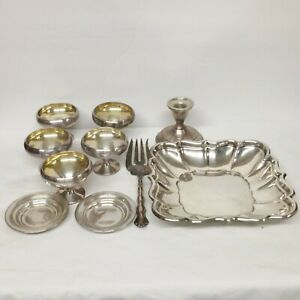 Reed Barton Windsor Sterling Silver Lot Scrap Cups Tray Serving Fork