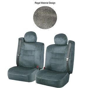 Gray Custom Regal Chevy Silverado Seat Covers W Built In Seat Belt
