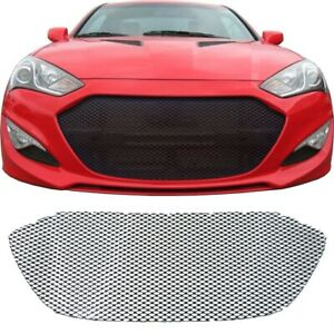 Ccg Gloss Black Perf Gt Mesh Grill For 2013 2016 Hyundai Genesis Coupe Grille