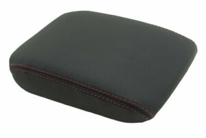 Console Armrest Leather Synthetic Cover For Vw Jetta Vento Mk5 05 10 Red Stitch
