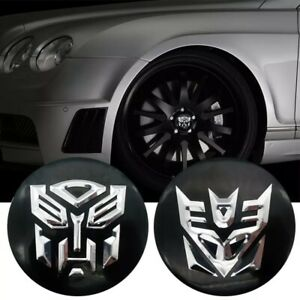 4 Pack Wheel Center Caps Transformers Shield Sticker Decal Dome Metal 2 20