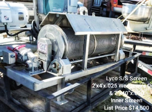 Sale Lyco Twin Drum Dewatering Screen Stainless Dewater Food See Description
