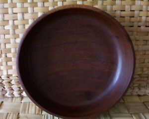 Vintage Wood Bowl Hand Turned Beautiful Grain Shape 7 5 Diameter Very Good Cd
