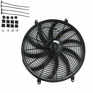 16 Inch Electric Radiator Cooling Fan 12v 1730 Cfm