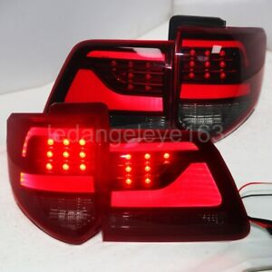 2012 2015 Year Led Strip Taillights For Toyota Fortuner Led Back Lamps Red Black