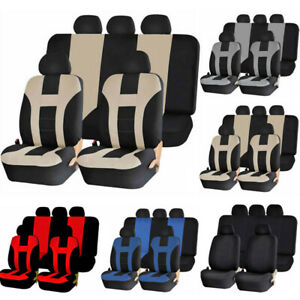 Universal Car Seat Covers Front Rear Head Rests Set Auto Seat Cover Truck Suv