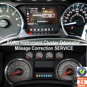 Ford F series f150 250 350 450 5 Instrument Cluster Mileage Correction Service