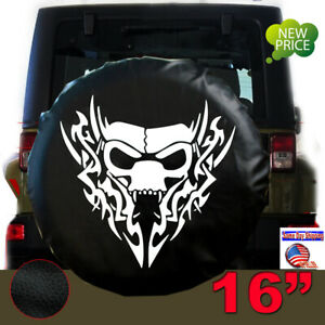 16 Spare Tire Tyre Wheel Cover Dragon Skull For Jeep Liberty Wrangler 30 31 L