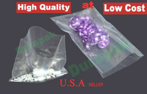 1000 10000 Pcs Clear Flat Open Top Poly Bag 2 Mil Ldpe Food Safe Various Sizes
