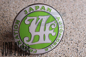 Japan Automobile Federation Jdm Bumper Grill Jaf Green Badge Emblem Toyota