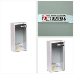 Fire Extinguisher Cabinet 10 Lbs Surface Mount Glass Galvanized Steel Frame New