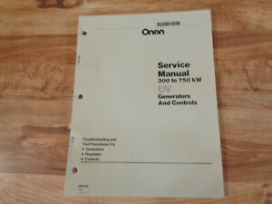 Onan Service Manual 300 To 750kw Uv Generator And Controls gb