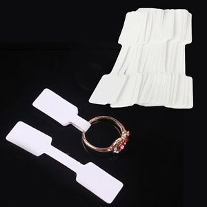 100pcs Jewelry Ring Necklace Blank Labels Jewelry Price Tags Price Tags White