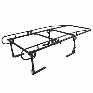 Black Adjustable Full Size Bed Truck Pickup Rack Lumber Utility Kayak Rack
