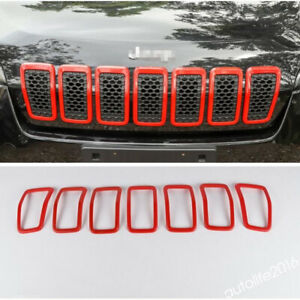 Accessories Front Grille Grill Ring Styling Cover Kit Abs For Jeep Cherokee 2019