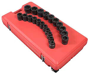 Sunex 5692 1 Drive 21 Piece Sae Impact Socket Set Shallow Brand New