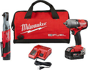 Milwaukee 2591 22 M12 Fuel 3 8 Ratchet 1 2 Fuel Midtorque Impact Wrench New