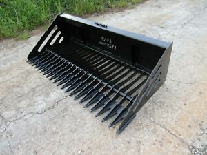 Pro Works 72 Rock Bucket With Teeth Skid Steer Attachment Ship 179