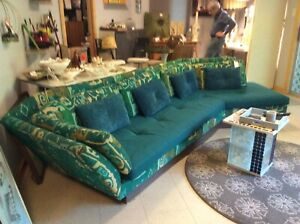 Rare Large Mid Century Modern Sofa Couch