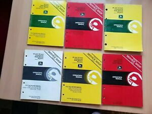 John Deere Lot Of 6 Assorted Operator s Manuals Walk Behind Lawn Grounds