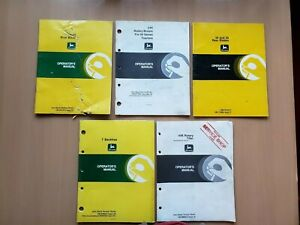 John Deere Lot Of 5 Assorted Operator s Manuals Lawn Grounds