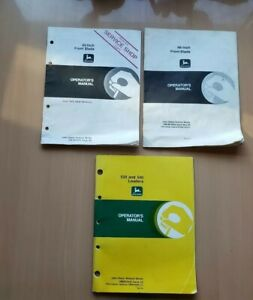 John Deere Lot Of 3 Assorted Operator s Manuals Lawn Grounds