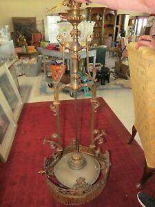 Large Antique French Art Nouveau Chandelier In Working Condition