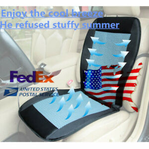 Us 12v Summer Cooling Car Seat Cushion Cover W Air Ventilated Fan Universal