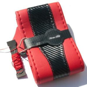 Diy Style Pvc Steering Wheel Skin Wrap Cover Red Carbon Fiber Perfect Fit